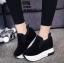 รองเท้าผ้าใบสีดำ ST1618-BLK thumbnail 4