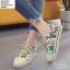 พร้อมส่ง รองเท้าใบลายกราฟฟิก ST203-GRN [สีเขียว] thumbnail 3