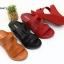 พร้อมส่ง รองเท้าส้นเตารีดแบบสวม 40075-MAR [สีม่วง] thumbnail 2