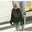 แบบมาใหม่ ทรงสุดฮิต กระเป๋าเป้ผู้หญิงผ้าไนล่อนสีสันสดใส 1185-ดำ (สีดำ) thumbnail 5
