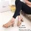 รองเท้าส้นตันรัดข้อสีแทน สไตล์ FT513-แทน thumbnail 2