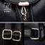 กระเป๋าสะพายเป้กระเป๋าถือ เป้แฟชั่นนำเข้าดีไซน์เรียบเก๋ส์ B-21081-PNK (สีชมพู) thumbnail 4