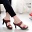 รองเท้าหัวแหลมสีน้ำตาล ส้นทอง สไตล์ซาร่าห์ LB-2323-น้ำตาล thumbnail 1