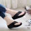 รองเท้าเพื่อสุขภาพสีดำ สไตล์ฟิทฟลอบ ชนชอป รุ่นคริสตัล LB-T119-ดำ thumbnail 2
