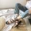 รองเท้าแตะแตะพันขาสีดำ Q-03-ดำ thumbnail 3
