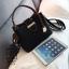 กระเป๋าสะพายกระเป๋าถือ แฟชั่นนำเข้าทรงยอดฮิต แบรนด์ BEIBAOBAO แท้ BR0377-BLK (สีดำ) thumbnail 4