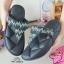 รองเท้าแตะพื้นโซฟางานห่อส้นสีดำ 999-13-ดำ thumbnail 4