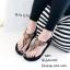 รองเท้าลำลองแบบคีบสีดำ วัสดุหนังนิ่ม SP001-ดำ thumbnail 4