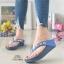 รองเท้าแตะพื้นสุขภาพสีกรม สไตล์ YT122-NAVY thumbnail 1