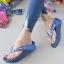 รองเท้าแตะพื้นสุขภาพสีกรม สไตล์ YT122-NAVY thumbnail 2