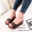 รองเท้าเตารีดสวมลายตาราง 981-107-ตาล (สีน้ำตาล) thumbnail 4