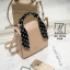 กระเป๋าสะพายกระเป๋าถือ แฟชั่นนำเข้าทรงสี่เหลี่ยมสไตล์เกาหลี AX-12394-PNK [สีชมพู] thumbnail 4