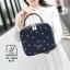 กระเป๋าสะพายกระเป๋าถือ แฟชั่นนำเข้าทรง box สไตล์คุณหนู AX-12364-BLU (สีน้ำเงิน) thumbnail 5