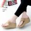 รองเท้าลำลองส้นเตารีดแบบคีบสีครีม LB-268-ครีม thumbnail 1