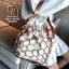 กระเป๋าสะพายกระเป๋าถือ แฟชั่นนำเข้าสุด chic สไตล์เกาหลี MB18-00908-BRO (สีน้ำตาล) thumbnail 1