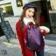 แบบมาใหม่ ทรงสุดฮิต กระเป๋าเป้ผู้หญิงผ้าไนล่อนสีสันสดใส 1185-ม่วง (สีม่วง) thumbnail 5