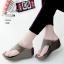 รองเท้าลำลองส้นเตารีดแบบคีบสีเทา LB-268-เทา thumbnail 1