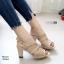 รองเท้าส้นสูงรัดส้นสีน้ำตาล LB-10164-น้ำตาล thumbnail 2