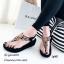 รองเท้าลำลองแบบคีบสีดำ วัสดุหนังนิ่ม SP001-ดำ thumbnail 3