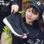 รองเท้าผ้าใบสีดำ ST013-BLK thumbnail 4