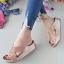รองเท้าแตะพื้นสุขภาพสีแดงกุหลาบ หน้าไขว้สวยหรู 6651-581-ROSE thumbnail 1