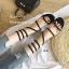 รองเท้าแตะแตะพันขาสีดำ Q-03-ดำ thumbnail 4