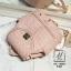 กระเป๋าสะพายเป้กระเป๋าถือ เป้แฟชั่นนำเข้าสุดน่ารัก AX-12285-PNK (สีชมพู) thumbnail 3