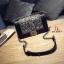 กระเป๋าแฟชั่นนำเข้าสะพายข้าง style CHANEL BOY OVL-0001L-BLK (สีดำ) thumbnail 3