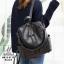 กระเป๋าเป้แฟชั่นนำเข้าทรงยอดฮิตดีไซน์สุดเก๋ส์ MB18-01702-BLK (สีดำ)