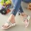 รองเท้าแตะคีบโป้งโบฮีเมียนสีขาว สวยล้ำ 316-1-ขาว thumbnail 2