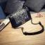 กระเป๋าแฟชั่นนำเข้าสะพายข้าง style CHANEL BOY OVL-0001L-BLK (สีดำ) thumbnail 4