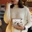 กระเป๋าแฟชั่นนำเข้าสะพายข้าง style CHANEL WFO-0001-GLD (สีทอง) thumbnail 4