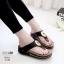 รองเท้าสุขภาพสีดำ พื้นนุ่ม LB-10182-ดำ thumbnail 1