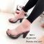 รองเท้าส้นสูงหน้าใสสีเทา พื้นลายดอก 7801-7-เทา thumbnail 4