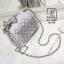 กระเป๋าสะพายกระเป๋าถือ แฟชั่นนำเข้าสไตล์เกาหลี AX-12401-SIL [สีเงิน] thumbnail 4
