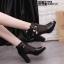 รองเท้าบูทสีดำ เปิดหน้า งานนำเข้า100% ST618-BLK thumbnail 1