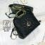 กระเป๋าแฟชั่นนำเข้าดีไซน์เก๋ส์ AX-12299-BLK (สีดำ) thumbnail 5
