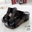 รองเท้าส้นเตารีดสีดำ หนัง pu LB-961-57-ดำ thumbnail 2