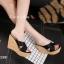 พร้อมส่ง รองเท้าส้นเตารีด สไตล์เกาหลี 17-2288-BLK [สีดำ] thumbnail 3