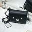 กระเป๋าสะพายกระเป๋าถือ แฟชั่นนำเข้าสไตล์เกาหลีสุดน่ารัก AX-12399-BLK (สีดำ) thumbnail 3