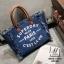 กระเป๋าแฟชั่นนำเข้าทรง shopping bag ดีไซน์เก๋ส์ MB18-01701-DNIM (สียีนส์) thumbnail 2