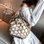 กระเป๋าสะพายกระเป๋าถือ แฟชั่นนำเข้าสุด chic สไตล์เกาหลี MB18-00908-BRO (สีน้ำตาล) thumbnail 2