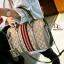 กระเป๋าถือทรงหมอนคาด แถบสี3Tone EMM-0001-GLD (สีทอง) thumbnail 1