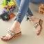 รองเท้าแตะคีบโป้งโบฮีเมียนสีตาล สวยล้ำ 316-1-ตาล thumbnail 2