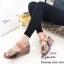 รองเท้าส้นเตารีดรัดข้อสีตาล หนังเงา 7797-4-ตาล thumbnail 5