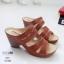 รองเท้าสุขภาพสีแทน พื้นนุ่ม LB-10183-แทน thumbnail 2
