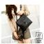 กระเป๋าเป้แฟชั่นนำเข้าดีไซน์สุดเท่ห์ BA909-BLK (สีดำ) thumbnail 1