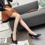 พร้อมส่ง รองเท้าคัชชูผู้หญิง หนังลายวัว K9080-BLK [สีดำ] thumbnail 3