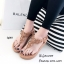รองเท้าลำลองแบบคีบสีแทน วัสดุหนังนิ่ม SP001-แทน thumbnail 1