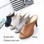รองเท้าส้นสูงวัสดุหนังนิ่มเปิดหน้าเท้า 939-63-ตาล (สีน้ำตาล) thumbnail 2